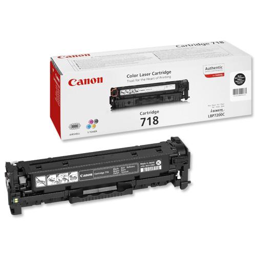 Canon CRG-718BK Laser Toner Cartridge Page Life 3400pp Black Ref 2662B002