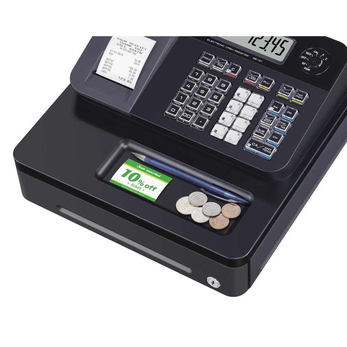 Casio Cash Register 7 Segment x 8 Digit 12 Plus 24 Dept Ref SE-G1SD
