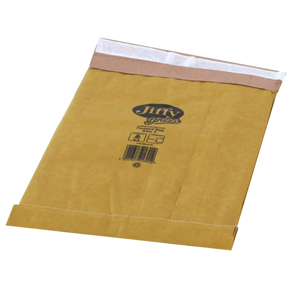 Padded Bags & Envelopes Jiffy Padded Bag Envelopes Size 3 P&S 195x343mm Brown Ref JPB-3 Pack 100