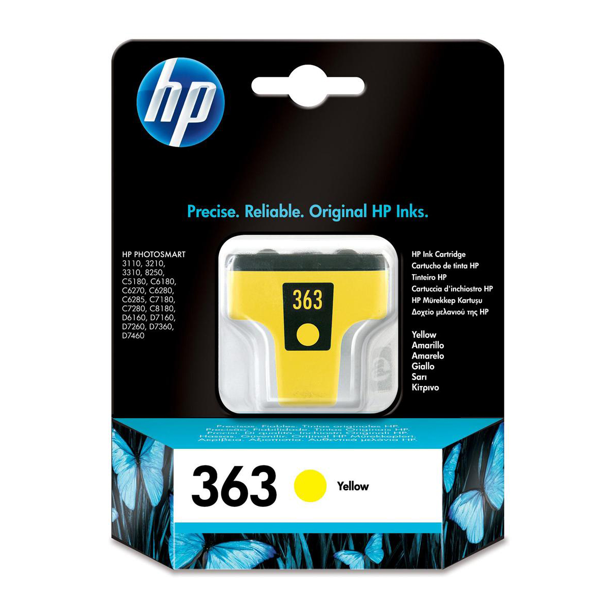 Hewlett Packard [HP] No. 363 Inkjet Cartridge Page Life 350pp 4ml Yellow Ref C8773EE #ABB