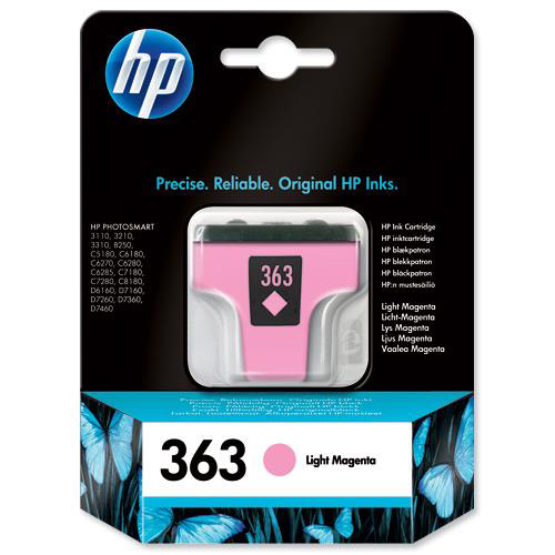 Hewlett Packard [HP] No. 363 Inkjet Cartridge Page Life 350pp 4ml Light Magenta Ref C8775EE #ABB
