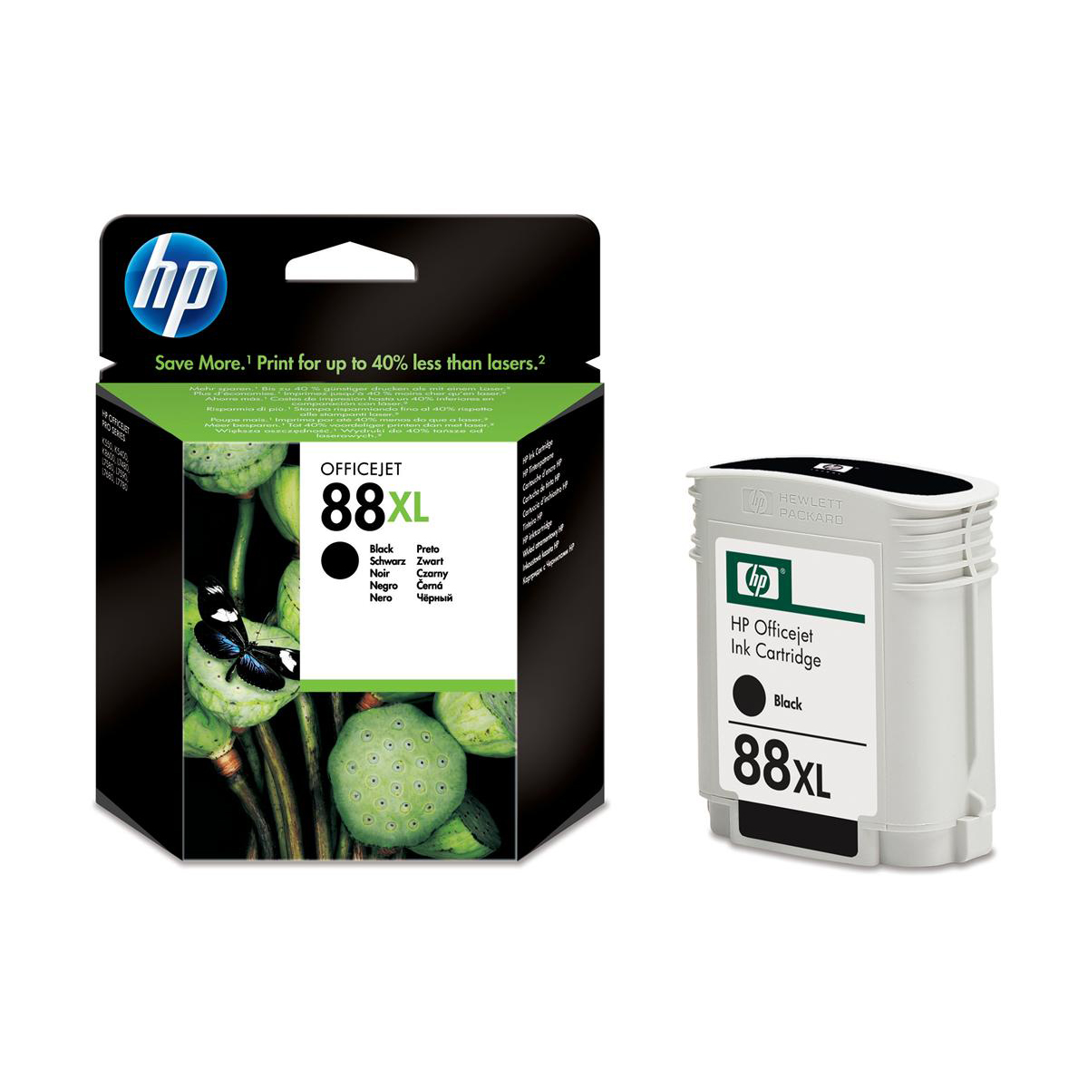Hewlett Packard [HP] No.88XL Inkjet Cartridge High Yield Page Life 2450pp 58.9ml Black Ref C9396AE