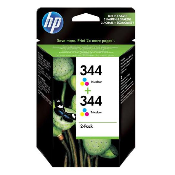 Hewlett Packard HP No.344 Inkjet Cartridge Page Life 560pp 14ml Tri-Colour Ref C9505EE Pack 2