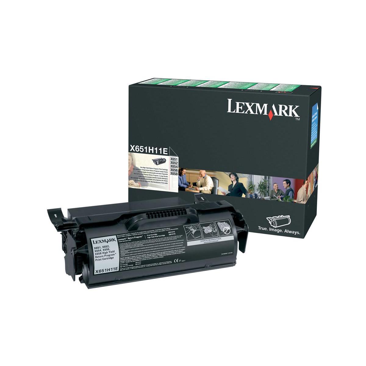 Lexmark Laser Toner Cartridge Return Program High Yield Page Life 25000pp Black Ref X651H11E
