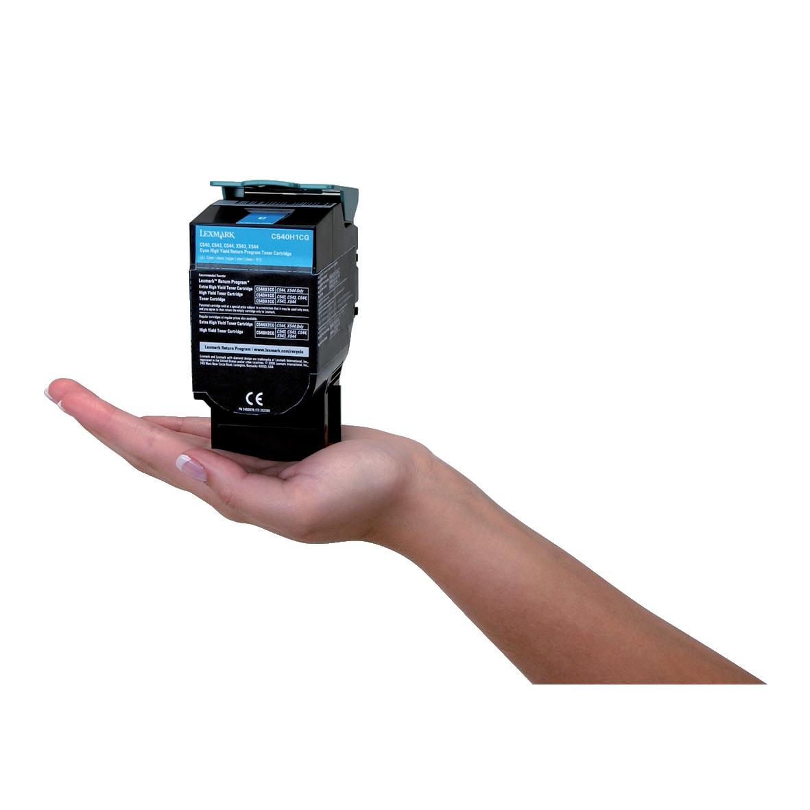 Lexmark C54/X54 Laser Toner Cartridge Return Programme High Yield Page Life 2000pp Cyan Ref C540H1CG