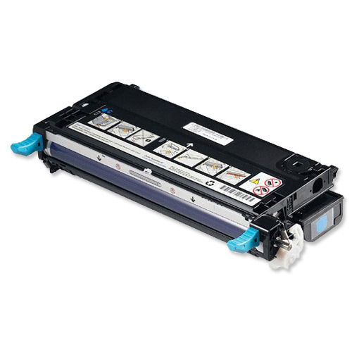 Laser Toner Cartridges Dell XG726 Laser Toner Cartridge Page Life 4000pp Cyan Ref 593-10166