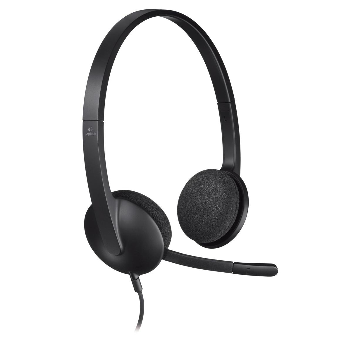 Phone headsets Logitech H340 Headset USB Lightweight with Noise-cancelling Microphone Ref 981-000475