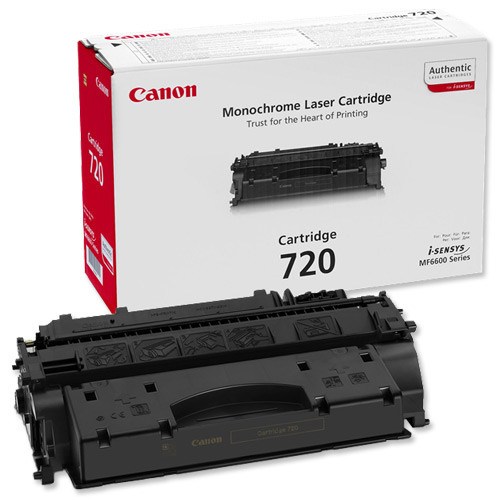 Canon 720 Laser Toner Cartridge Page Life 5000pp Black Ref 2617B002