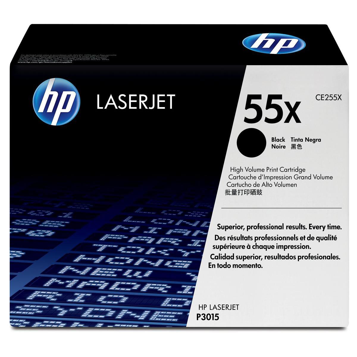 HP 55X Laser Toner Cartridge High Yield Page Life 12500pp Black Ref CE255X