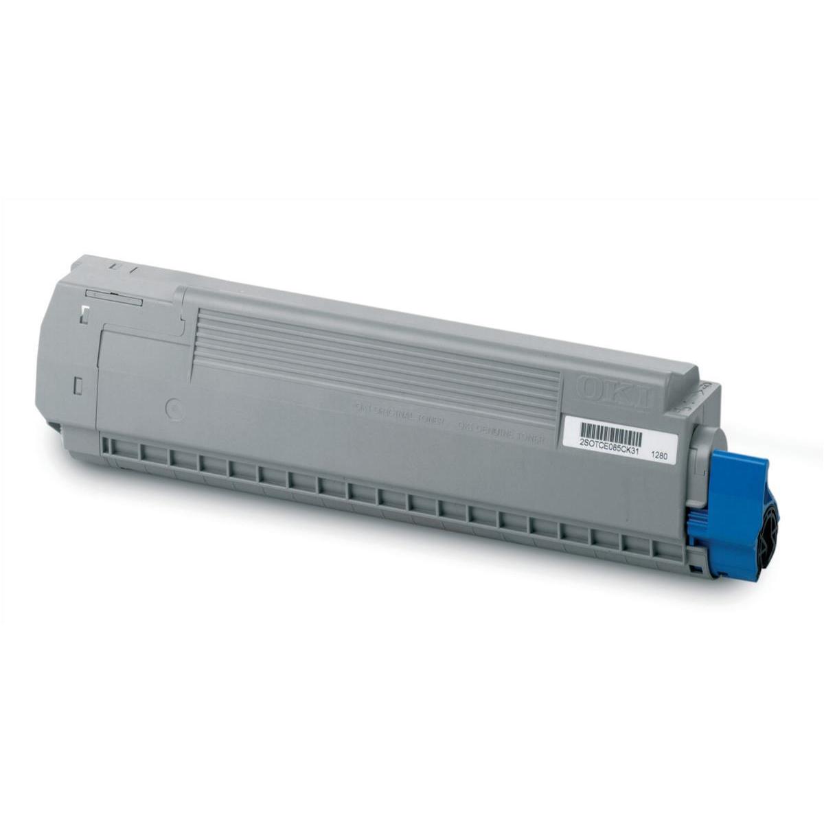Oki Laser Toner Cartridge Page Life 10000pp Yellow Ref 44059209