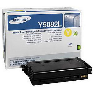 Samsung CLT-Y5082L Laser Toner Cartridge High Yield Page Life 4000pp Yellow Ref SU532A