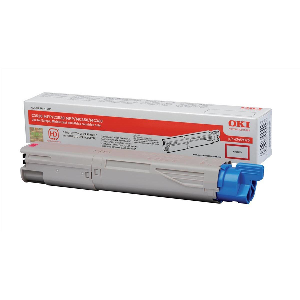 OKI Laser Toner Cartridge Page Life 2500pp Magenta Ref 43459370