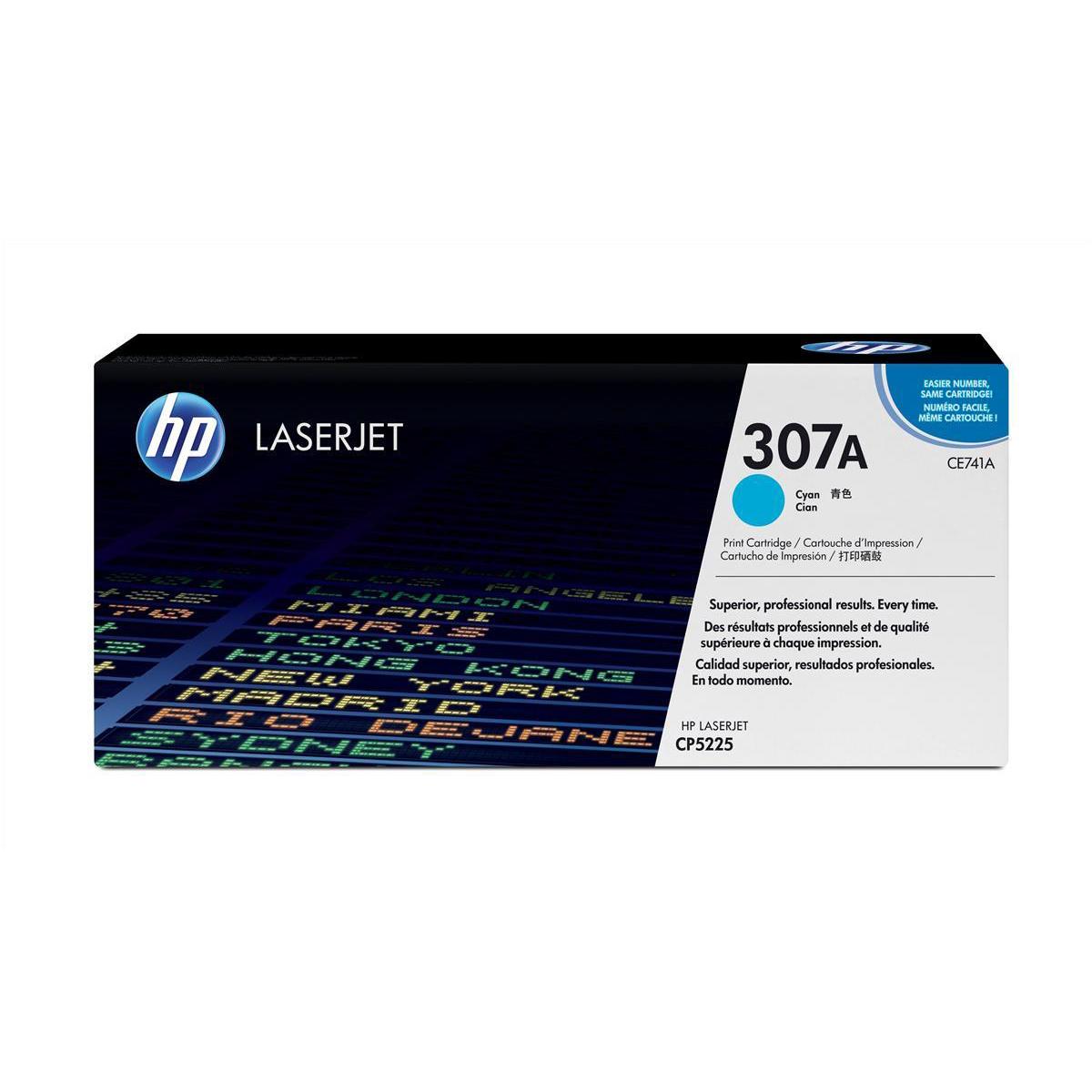 Hewlett Packard [HP] No. 307A Laser Toner Cartridge Page Life 7300pp Cyan Ref CE741A