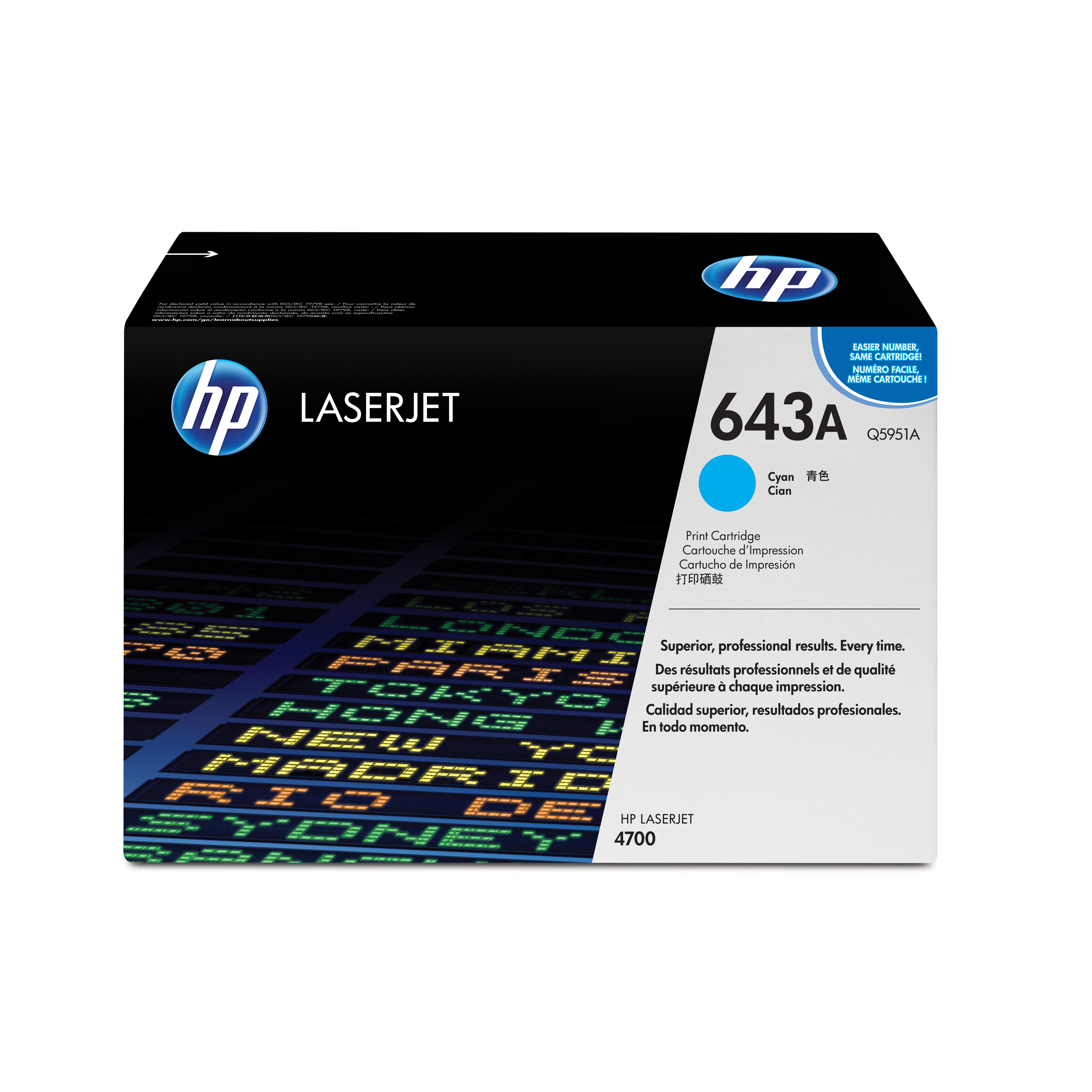 HP 643A Laser Toner Cartridge Page Life 10000pp Cyan Ref Q5951A