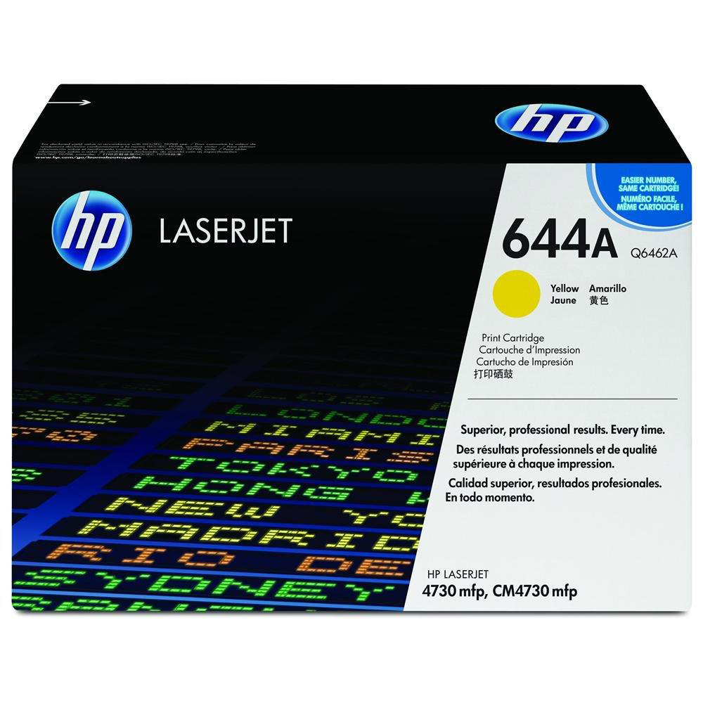 Hewlett Packard [HP] No. 644A Laser Toner Cartridge Page Life 12000pp Yellow Ref Q6462A