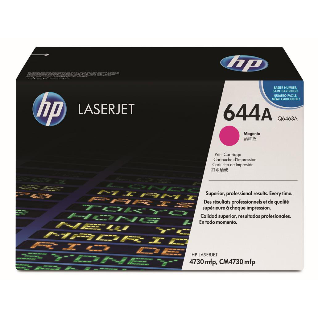 Hewlett Packard [HP] No. 644A Laser Toner Cartridge Page Life 12000pp Magenta Ref Q6463A