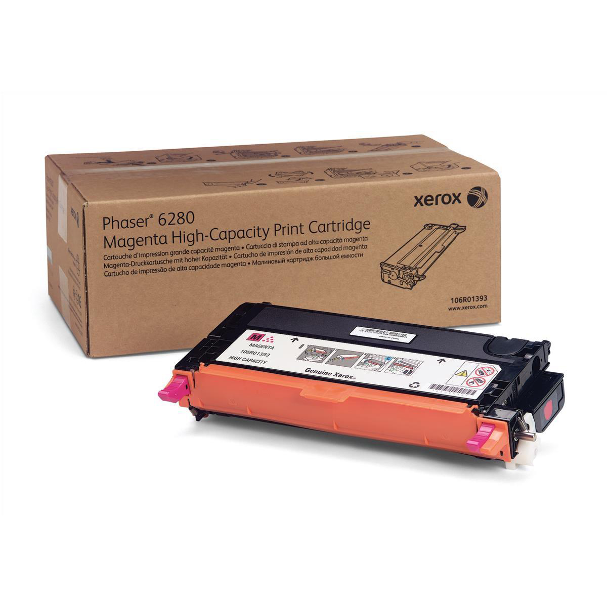 Xerox Laser Toner Cartridge High Yield Page Life 5900pp Magenta Ref 106R01393