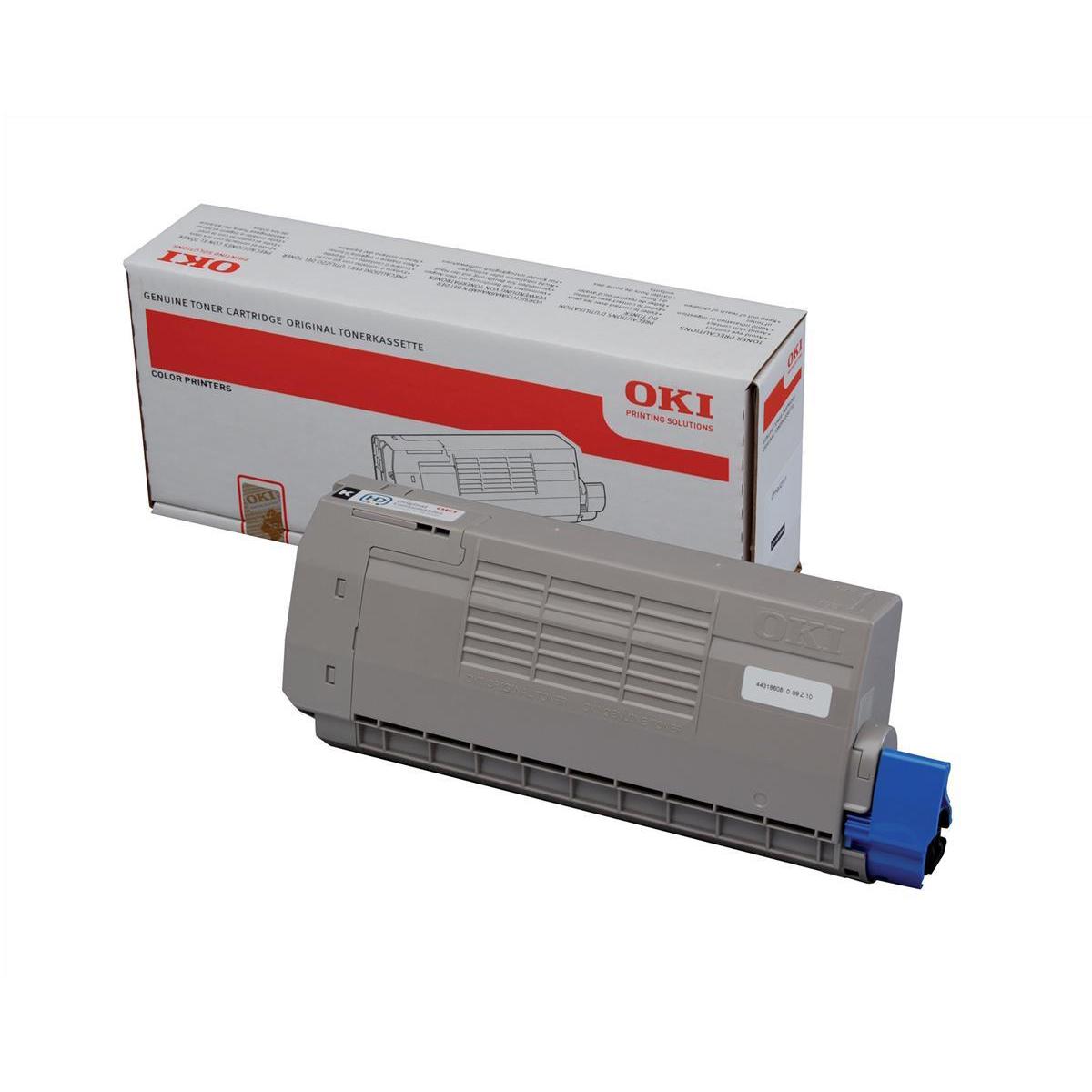 Laser Toner Cartridges OKI Laser Toner Cartridge High Yield Page Life 11000pp Black Ref 44318608