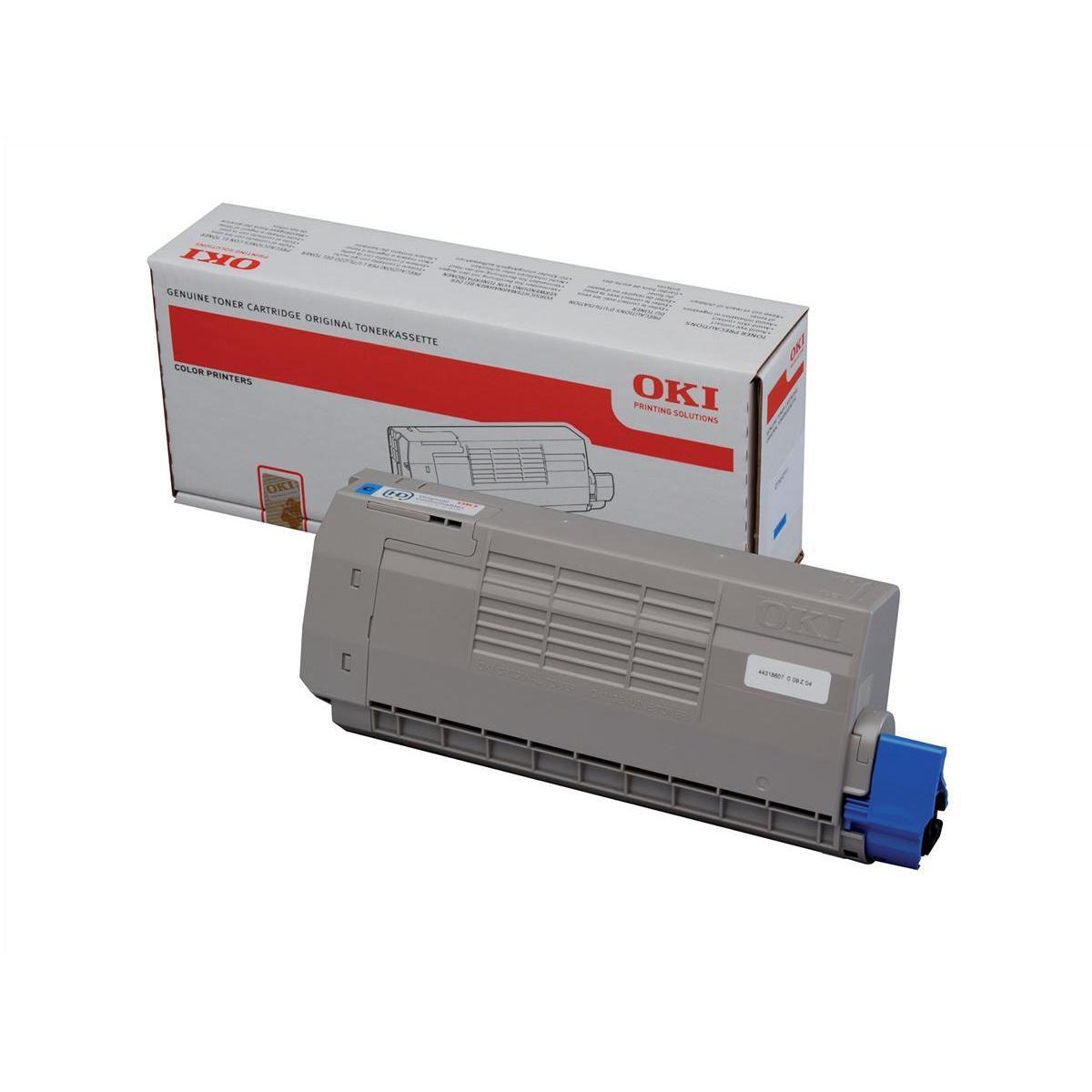 Laser Toner Cartridges OKI Laser Toner Cartridge High Yield Page Life 11500pp Cyan Ref 44318607