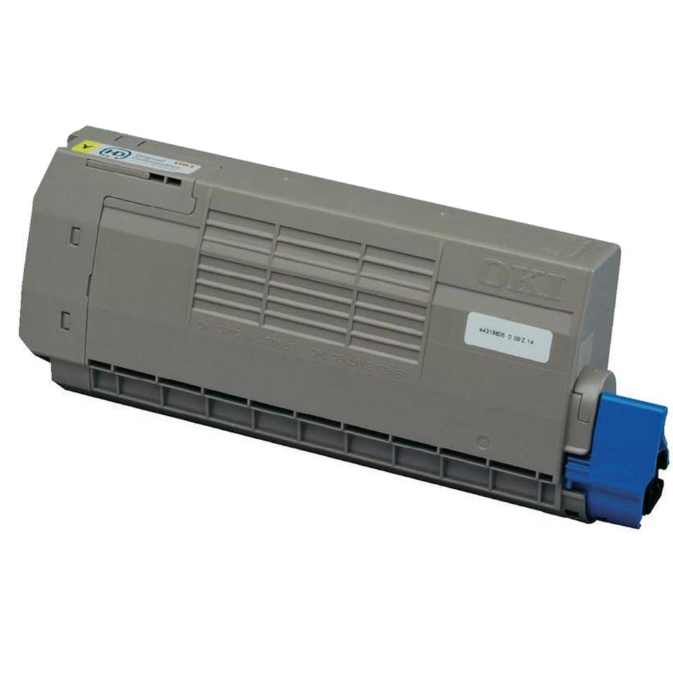 OKI Laser Toner Cartridge High Yield Page Life 11000pp Yellow Ref 44318605