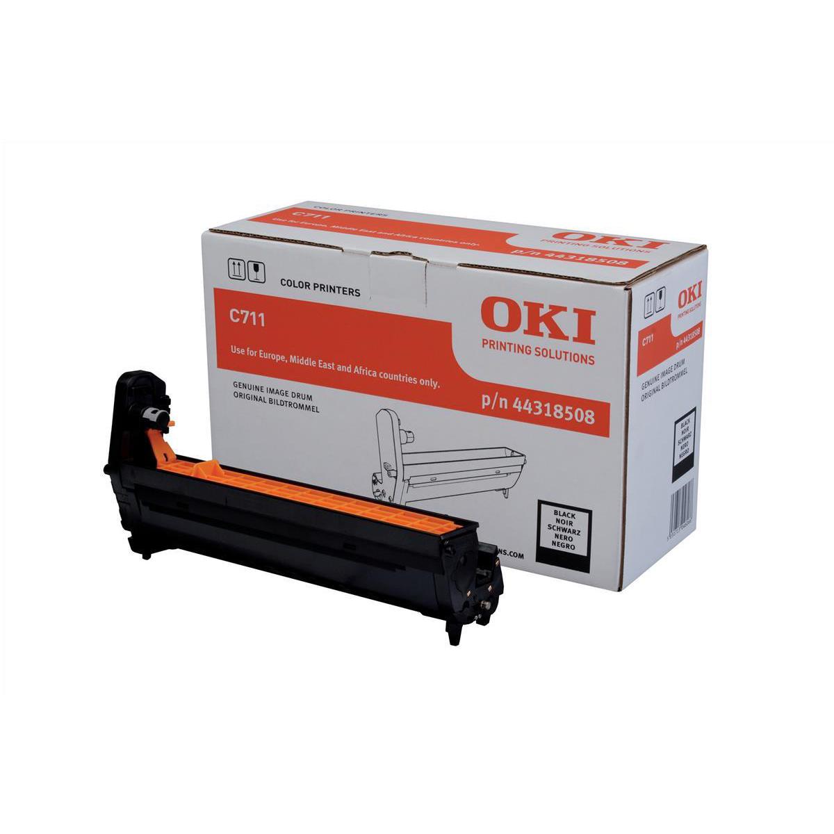 OKI Laser Drum Unit Page Life 20000pp Black Ref 44318508