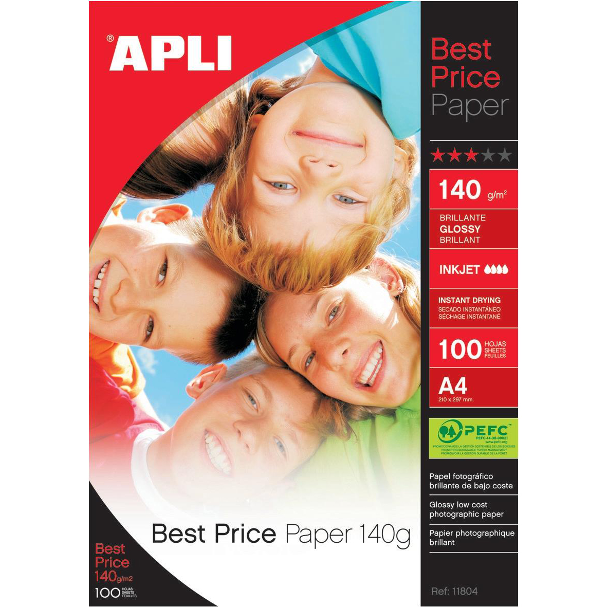 Photo Paper Apli Best Price Photo Paper Glossy 140gsm A4 Ref 11804 100 Sheets