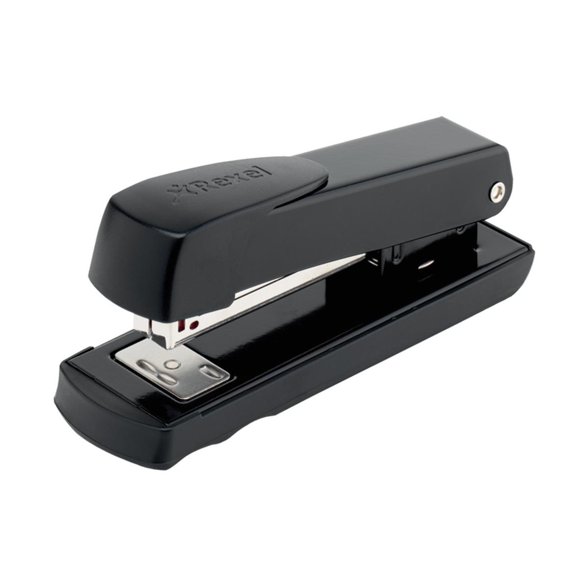 Rexel Meteor Stapler Half Strip Throat 65mm Black Ref 2100019