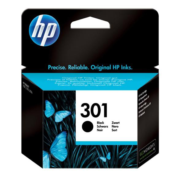 Hewlett Packard [HP] No. 301 Inkjet Cartridge Page Life 190pp Black Ref CH561EE #UUS