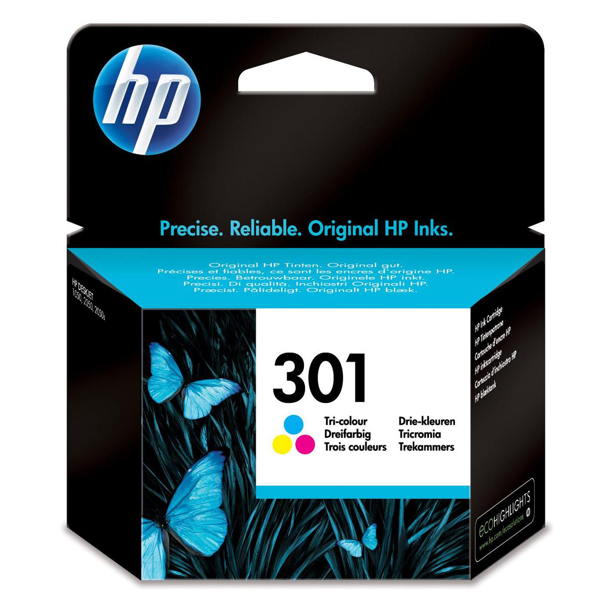 Hewlett Packard HP No.301 Inkjet Cartridge Page Life 165pp 3ml Tri-Colour Ref CH562EE