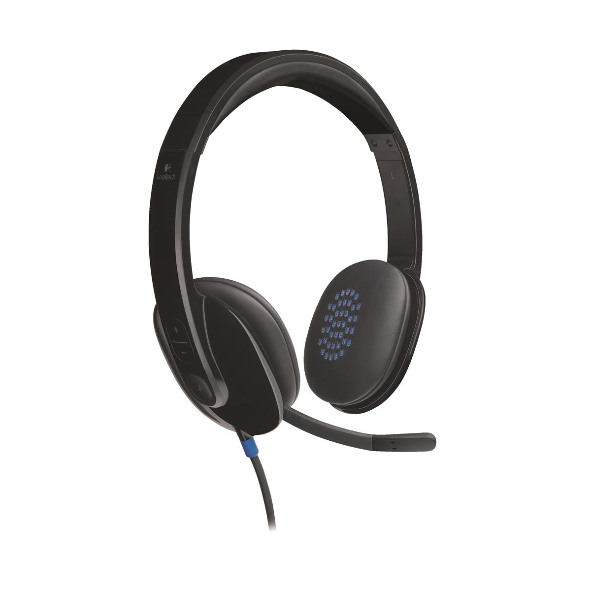 Phone headsets Logitech H540 Headset USB Laser-tuned Speakers with On-ear Controls Ref 981-000480