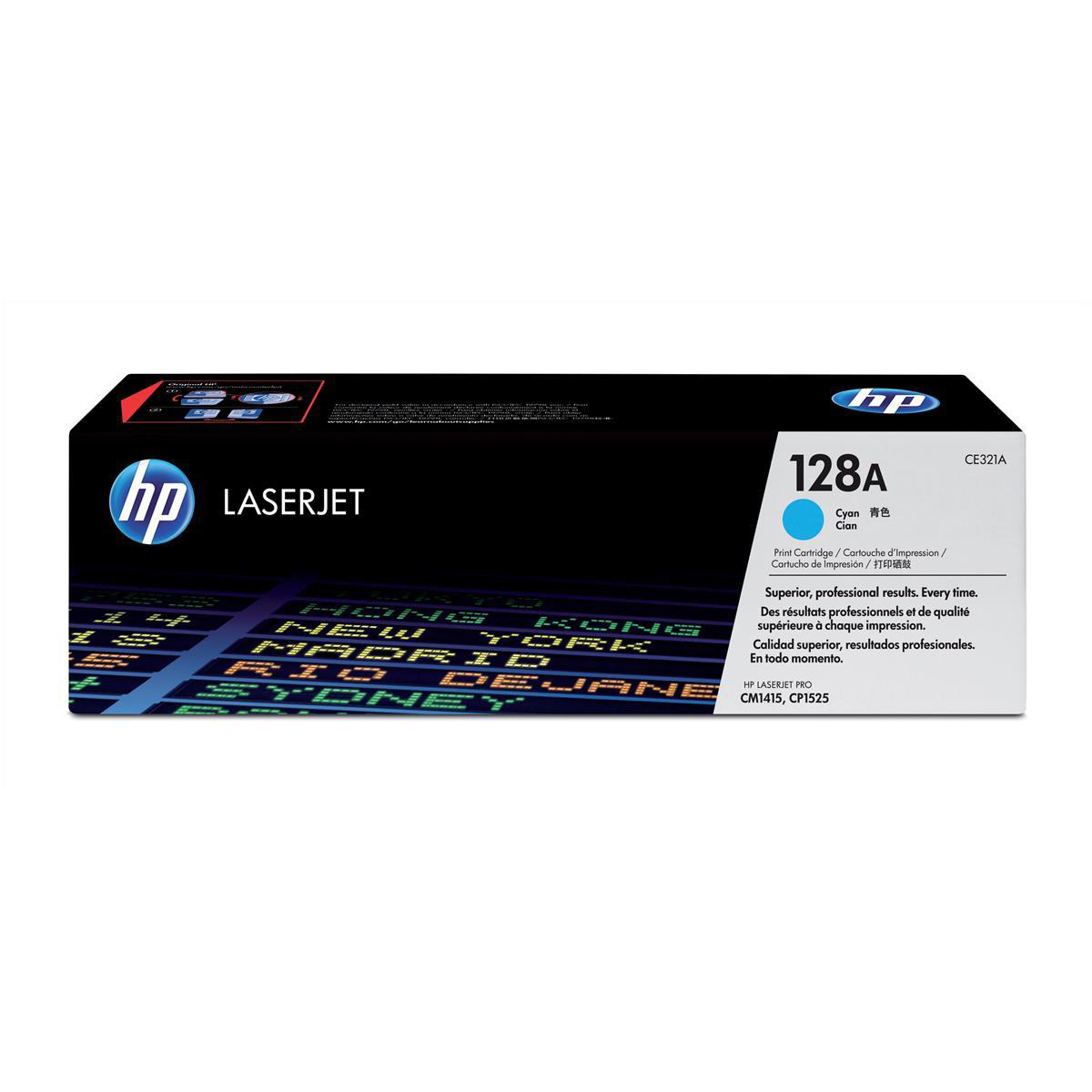 HP 128A Laser Toner Cartridge Page Life 1300pp Cyan Ref CE321A