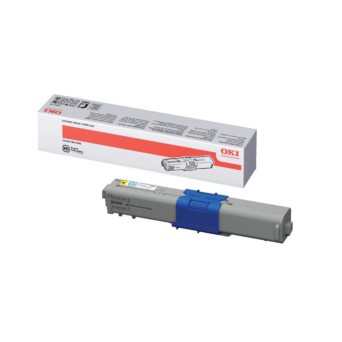 OKI Laser Toner Cartridge Page Life 2000pp Yellow Ref 44469704