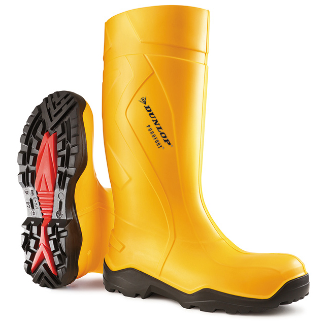Footwear Dunlop Purofort Plus Safety Wellington Boot Size 10 Yellow Ref C76224110 *Up to 3 Day Leadtime*