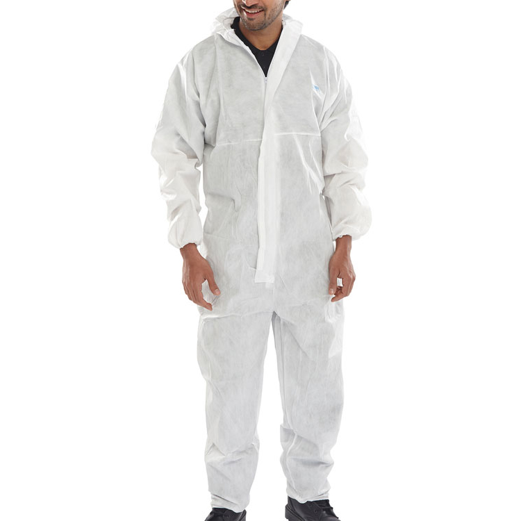 Click Once Disposable Boilersuit 2XL White Ref BCOC10WXXL Pack 50 *Up to 3 Day Leadtime*