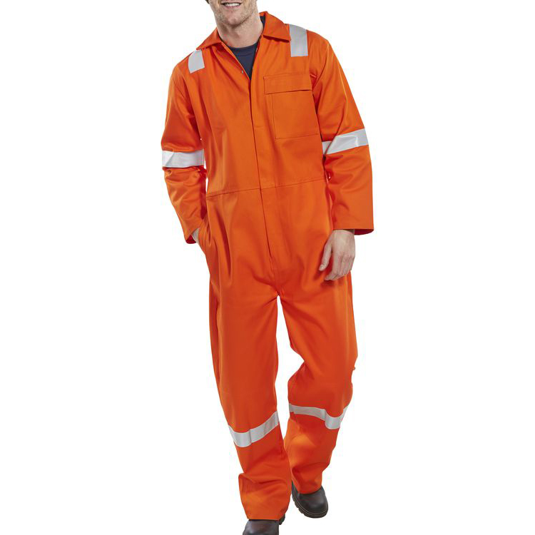 Coveralls / Overalls Click Fire Retardant Boilersuit Nordic Design Cotton 52 Orange Ref CFRBSNDOR52 *Up to 3 Day Leadtime*