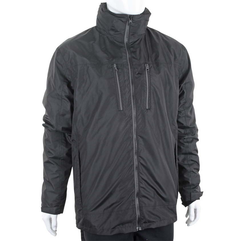 B-Dri 3 in 1 Weatherproof Mowbray Jacket Small Black Ref MBBLS *Up to 3 Day Leadtime*