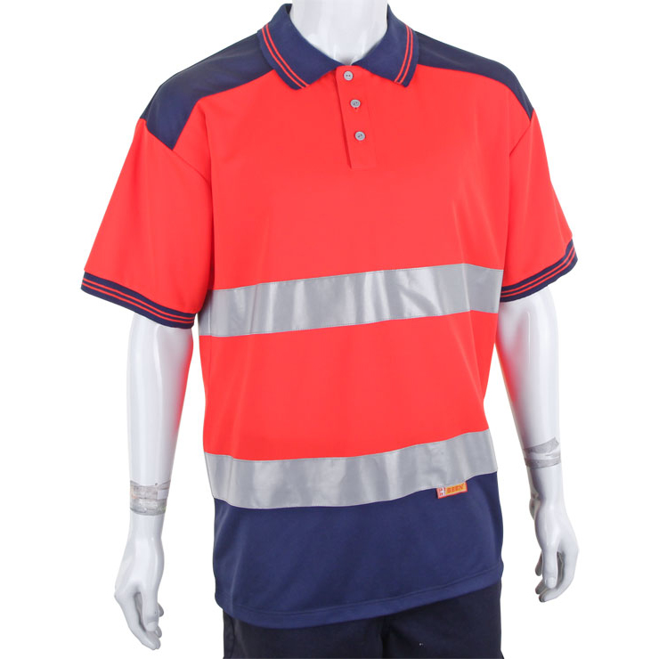 BSeen Polo Shirt 2Tone Red/Navy S*Up to 3 Day Leadtime*