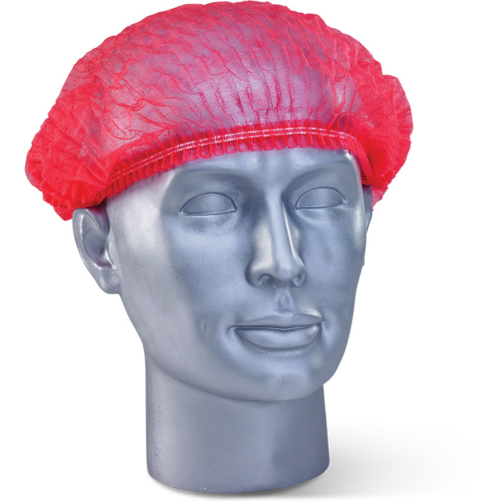 Protective hair net Click Once Disposable Mob Cap Red Ref DMCR Pack 1000 *Up to 3 Day Leadtime*