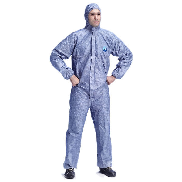 Tyvek Protech Hooded Boilersuit Disposable Large Blue Ref TBSHBL Pack 25 *Up to 3 Day Leadtime*