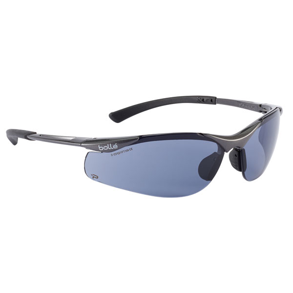 Bolle Contour Platinum Smoke Safety Glasses Ref BOCONTPSF [Pack 10] *Up to 3 Day Leadtime*