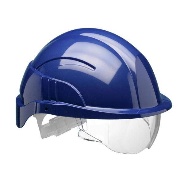 Centurion Vision Plus Safety Helmet Integrated Visor Blue Ref CNS10PLUSEBA *Up to 3 Day Leadtime*