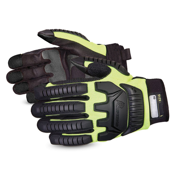 Superior Glove Clutch Gear Impact Protection Mechanics XL Yellow Ref SUMXVSBXL *Up to 3 Day Leadtime*