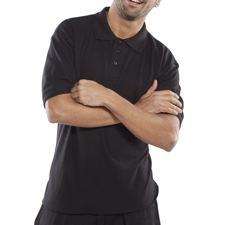 Click Premium Polo Shirt 260gsm L Black Ref CPPKSBLL *Up to 3 Day Leadtime*