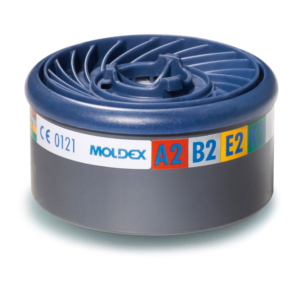 Moldex ABEK2 7000/9000 Particulate Filter EasyLock System Blue Ref M9800 [Pack 4] Up to 3 Day Leadtime