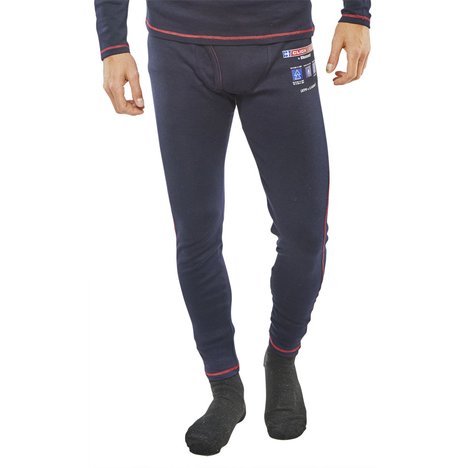 Trousers Click Arc Compliant Long John Fire Retardant S Navy Ref CARC24S *Up to 3 Day Leadtime*