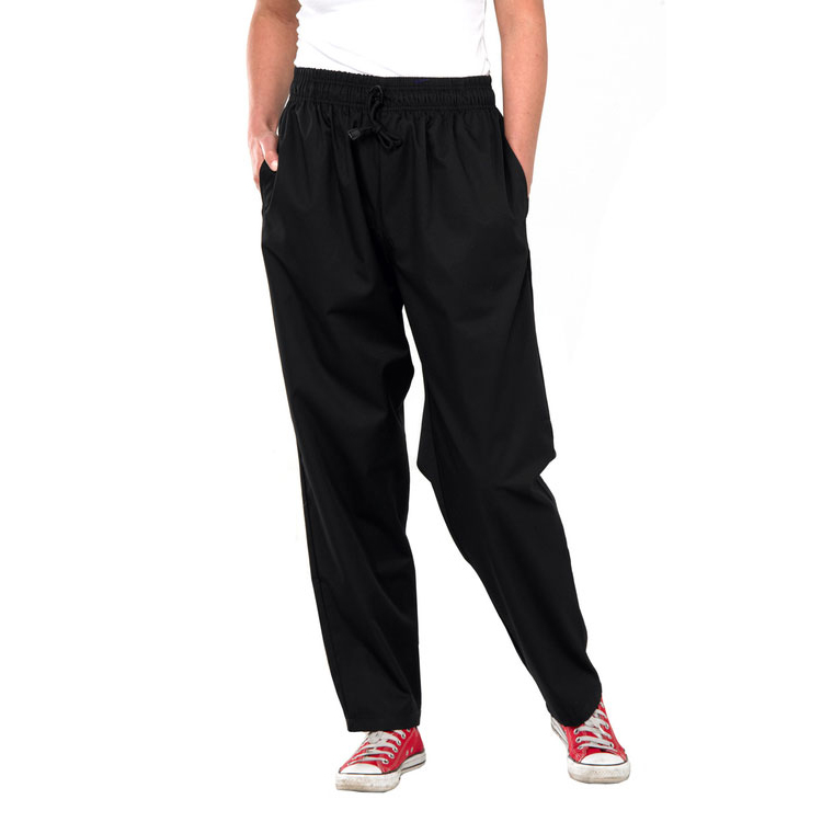 Click Workwear Chefs Trousers M Black Ref CCCTBLM *Up to 3 Day Leadtime*