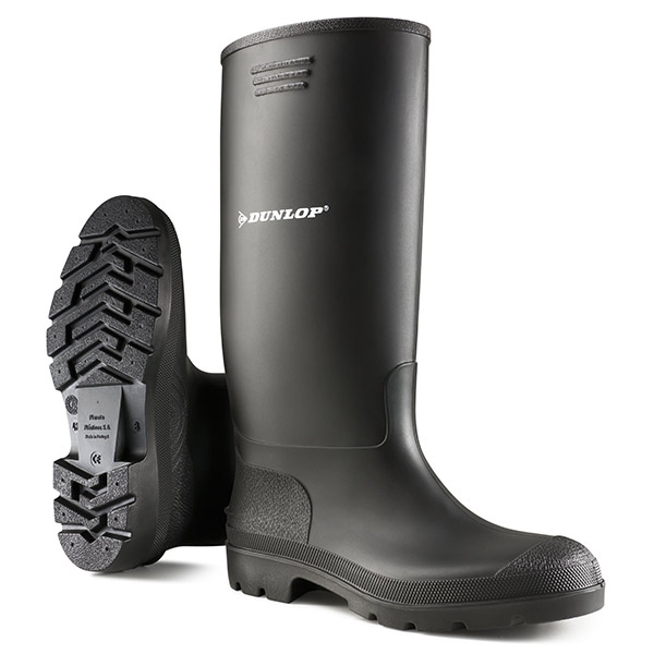 Footwear Dunlop Pricemastor Wellington Boot Size 10 Black Ref BBB10 *Up to 3 Day Leadtime*