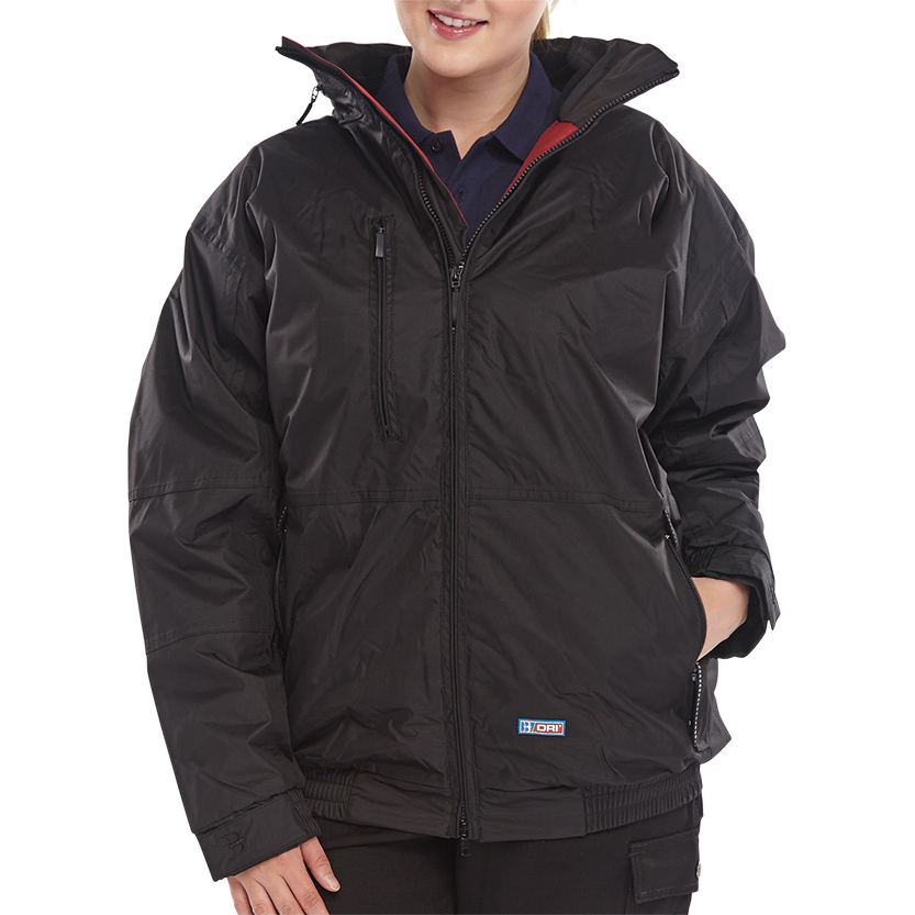 Weatherproof B-Dri Weatherproof Mercury Bomber Jacket Zip Away Hood Medium Black Ref MUBJBLM *Up to 3 Day Leadtime*