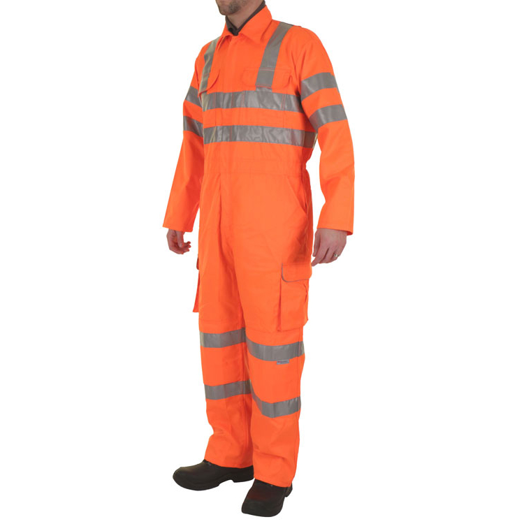 B-Seen Rail Spec Coveralls WIth Reflective Tape Size 50 Orange Ref RSC50 *Up to 3 Day Leadtime*
