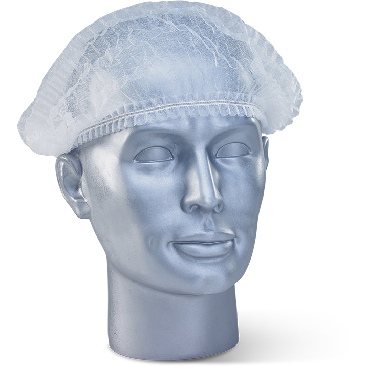 Protective hair net Click Once Disposable Mob Cap White Ref DMCW Pack 1000 *Up to 3 Day Leadtime*